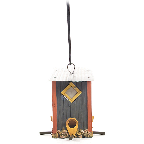 Outside Inside Outhouse Bird Feeder, , 600