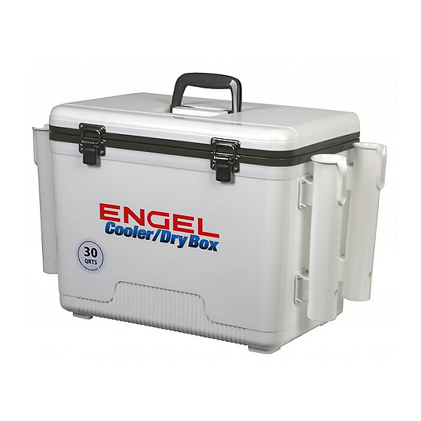 Engel Dry Box Cooler 30 with Rod Holders, White, 600