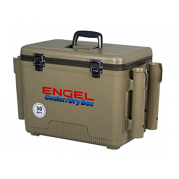 Engel Dry Box Cooler 30 with Rod Holders, Tan, 600