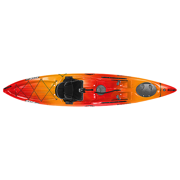 Wilderness Systems Ride 135 Kayak - Low Seat - 2018 Closeout Colors, Mango, 600