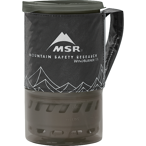 MSR WindBurner Stove System 1.0L, Black, 600
