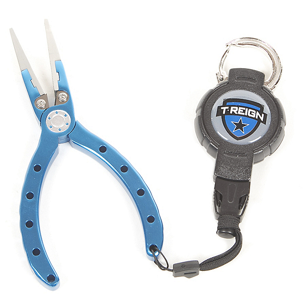 "T-Reign Retractable 6"" Fishing Pliers with Carabiner, , 600"