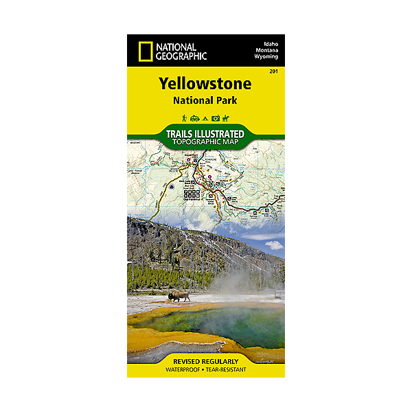 National Geographic Trails Illustrated Map  - Yellowstone NP, , 600
