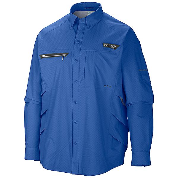 22097c2acc9 Columbia PFG Airgill Chill Zero Long Sleeve Shirt - Closeout, Vivid Blue,  600