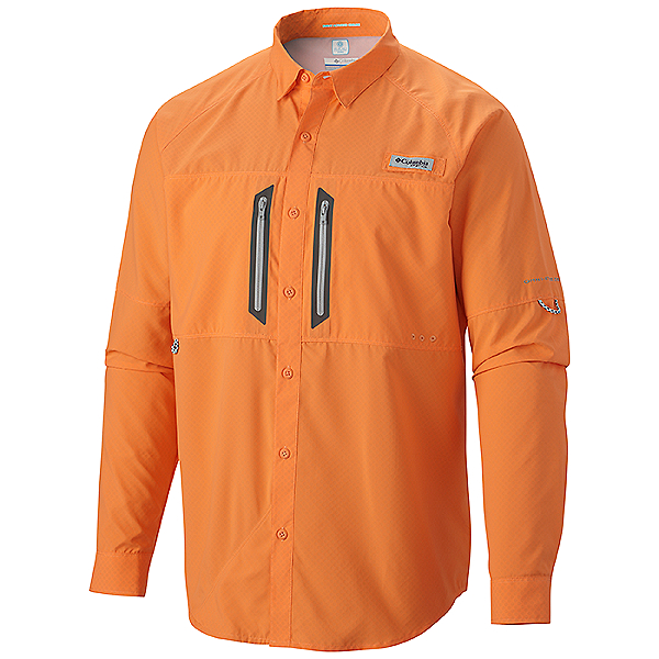 972f95a9b11 Columbia PFG Solar Cast Zero Long Sleeve Shirt - Closeout, Jupiter Orange,  600
