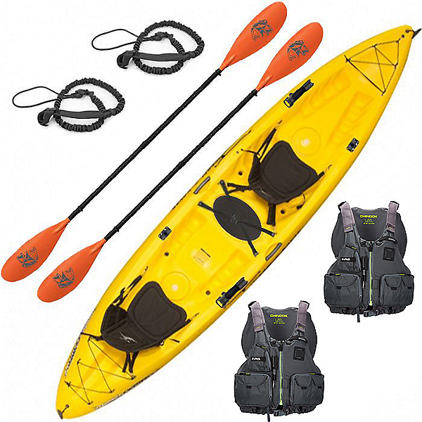 Ocean Kayak Malibu 2XL Tandem Kayak Deluxe Fishing Package, , 600