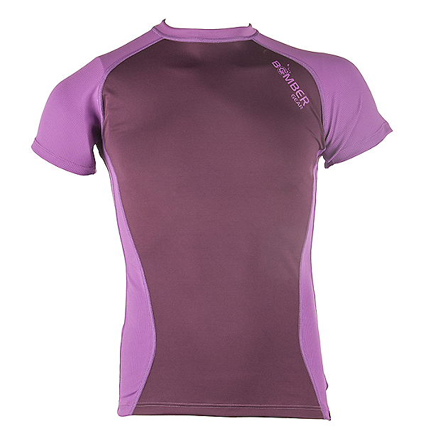 Bomber Gear Baja UV Protection Top Short Sleeve - Womens -Discontinued, Maroon Rock/Orchid, 600