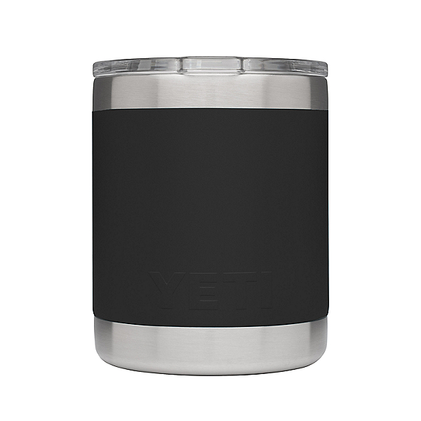 Yeti Rambler Lowball Insulated Stainless Steel Tumbler with Lid, Black, 600