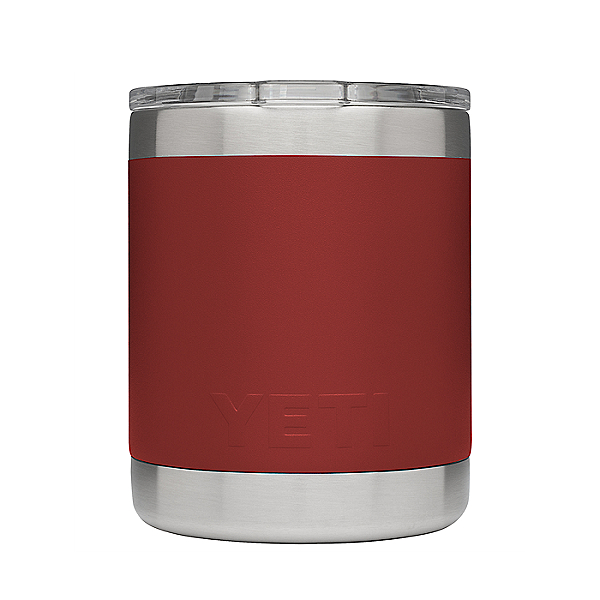 Yeti Rambler Lowball Insulated Stainless Steel Tumbler with Lid, Brick Red, 600