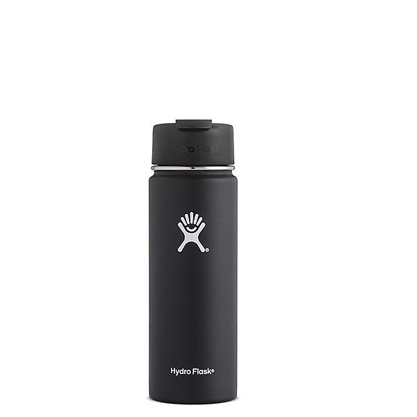 Hydro Flask 20 oz. Wide Mouth Bottle with Flip Lid Black, Black, 600
