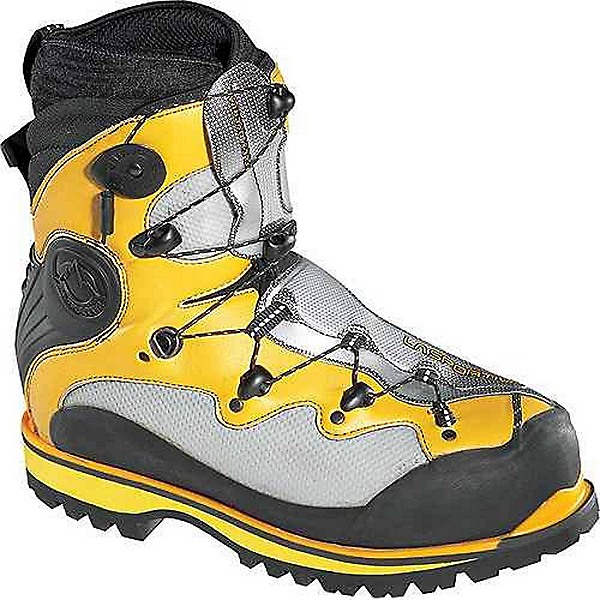 La Sportiva Spantik Boot - Men's - 44.5/Yellow-Grey, Yellow-Grey, 600