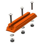 YakAttack Gear Trac GTSL90 4 Inch Plastic Mounting Track - Orange 2021, , medium