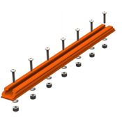 YakAttack Gear Trac GTSL90 12 Inch Plastic Mounting Track - Orange, , medium