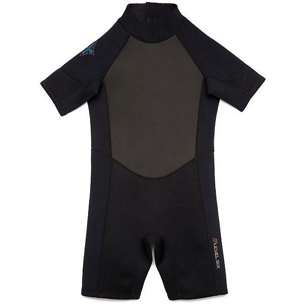 Level Six Youth Shorty Wetsuit, Black, 600