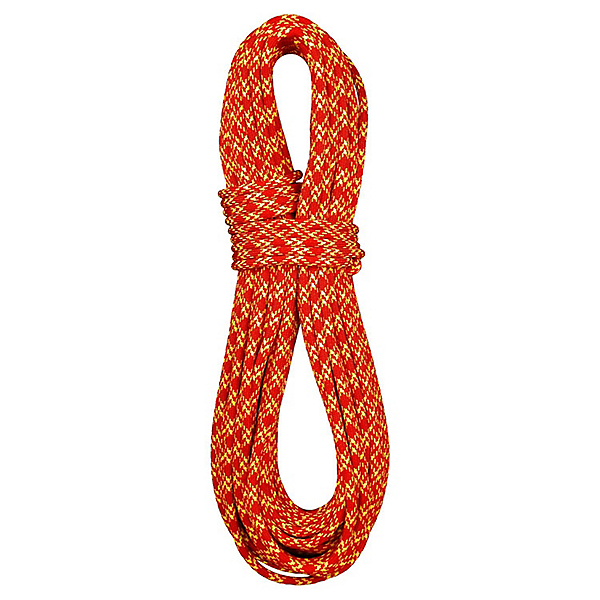 BlueWater 7.7 mm Ice Floss Rope - Dry - 60M/Red-Yellow, Red-Yellow, 600