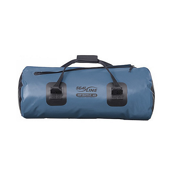 SealLine 40 Liter Zip Duffel Waterproof Dry Bag, Blue, 600