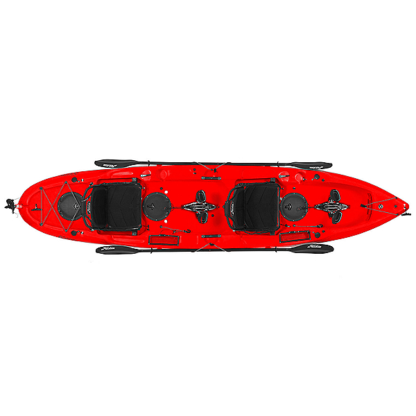 Hobie Mirage Outfitter Tandem Kayak Red Hibiscus, Red Hibiscus, 600