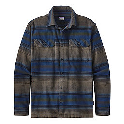 Patagonia Fjord Flannel Long Sleeve Shirt - Men's, Blanket Stripe Navy Blue, 256