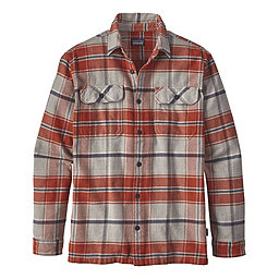 Patagonia Fjord Flannel Long Sleeve Shirt - Men's, Buckstop Plaid Roots Red, 256