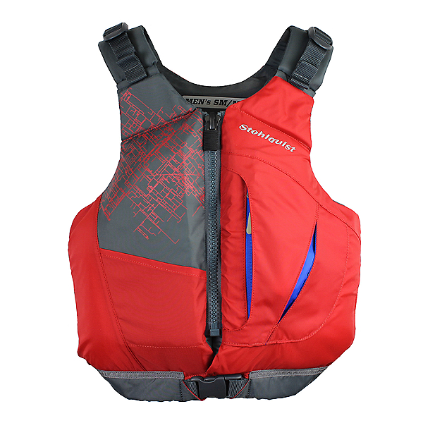 Stohlquist eSCAPE Life Jacket PFD - Men Red - PLUS, Red, 600