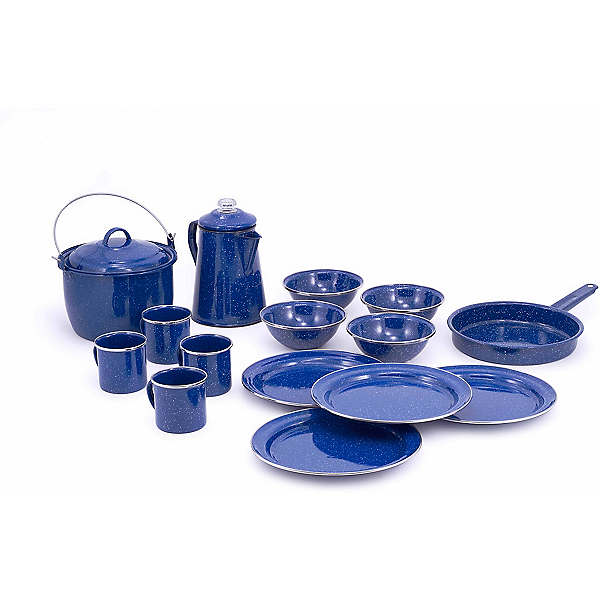 GSI Outdoors Pioneer Camp Set Enamelware, , 600
