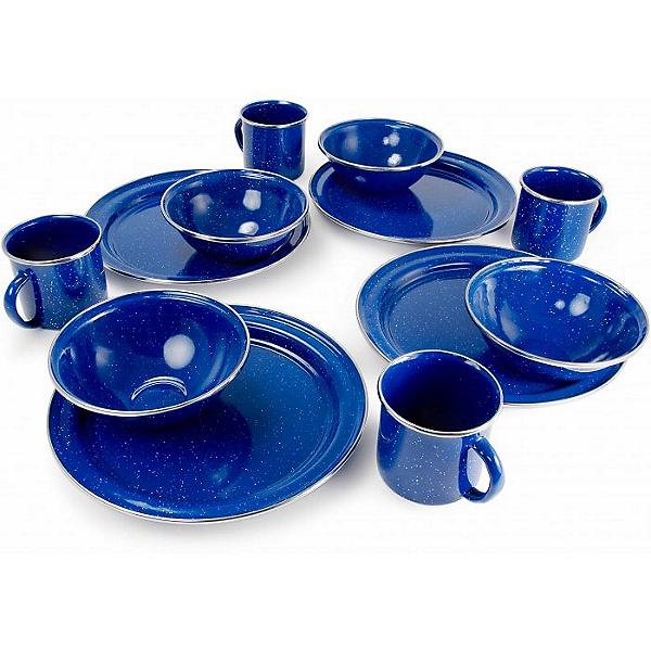 GSI Outdoors Pioneer Table Set Enamelware Blue, Blue, 600