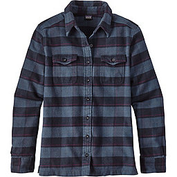 Patagonia Long Sleeve Fjord Flannel Shirt - Women's, Boxwood Plaid Navy Blue, 256
