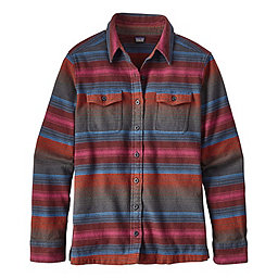 Patagonia Long Sleeve Fjord Flannel Shirt - Women's, Blanket Stripe Roots Red, 256