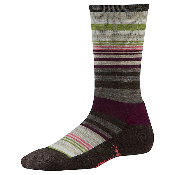 Smartwool Jovian Stripe Sock - Women's - MD/Chestnut, Chestnut, 600