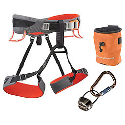 Black Diamond Momentum SA Harness Package - Men's, Steel-Lava, 256