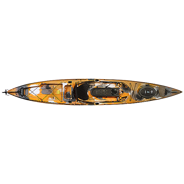 Ocean Kayak Trident Ultra 4.7 Ruddered Kayak - Orange Camo - Used, Orange Camo, 600