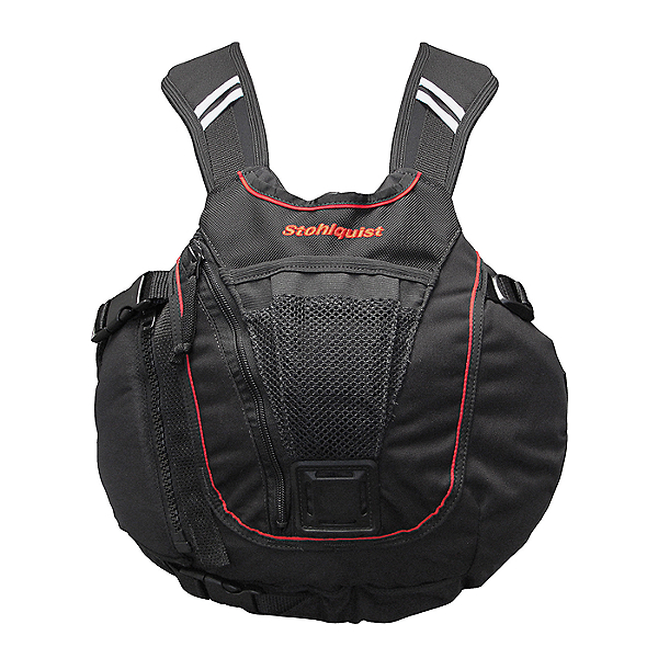 Stohlquist Rocker Life Jacket - PFD, Black/Red, 600