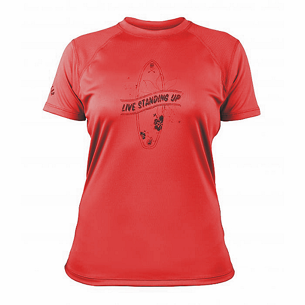 Bomber Gear Monterey SUP Performance Tee S/S - Women - Discontinued, Red, 600