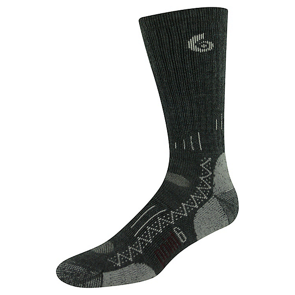 Point6 Hiking Tech Crew Sock - Men's - MD/Gray, Gray, 600