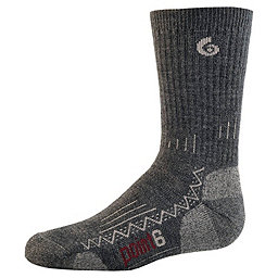 Point6 Hiking Tech Crew Sock - Youth, Gray, 256