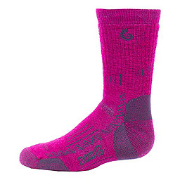 Point6 Hiking Tech Crew Sock - Youth, Lipstick, 256