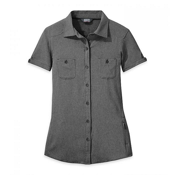 Outdoor Research Reflection Short Sleeve Shirt Women - Closeout Charcoal - S, Charcoal, 600
