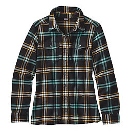 Patagonia Fjord Flannel Long Sleeve Shirt - Women's, Windrow-Black, 256