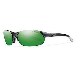 Smith Parallel Sunglasses, Matte Black-Green Sol-X, 256