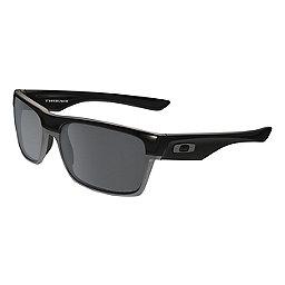Oakley TwoFace Sunglasses, Pol Black w-Blk Irid Polar, 256
