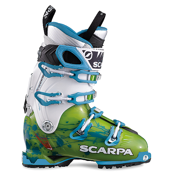 Scarpa Freedom SL Ski Boot - Women's - 21.5/Lime-Turquoise, Lime-Turquoise, 600