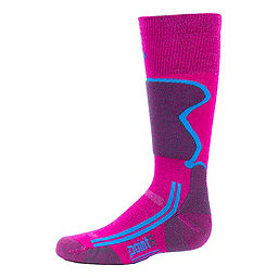 Point6 Ski Light OTC Sock - Youth, Lipstick, 256