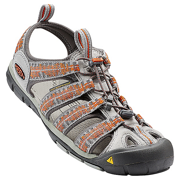 KEEN Clearwater CNX Sandal - Men's - 11/Neutral Gray-Burnt Ochre, Neutral Gray-Burnt Ochre, 600