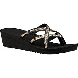 Teva Mush Mandalyn Wedge Ola 2 Sandal - Women's, Agave Black Metallic, 256