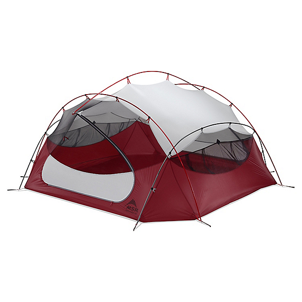 MSR Papa Hubba NX 4 Person Tent, Red, 600
