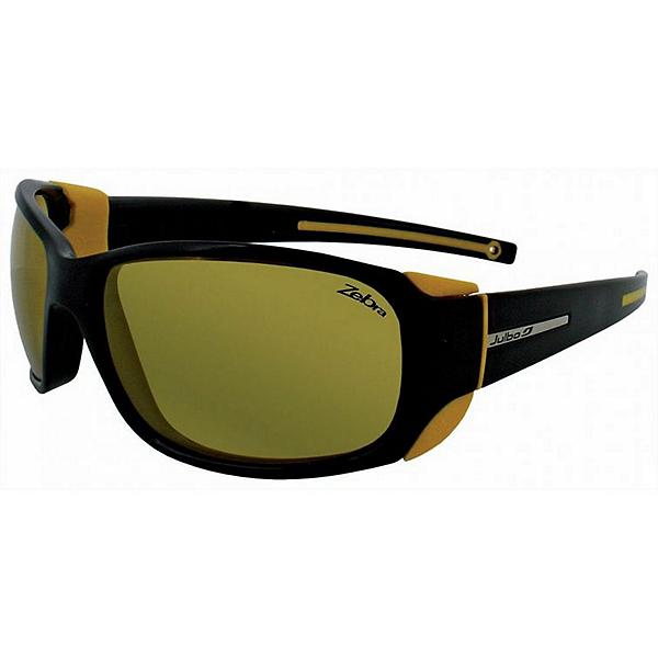 Julbo MonteBianco Sunglasses - Matt Black-Yellow w-Zebra, Matt Black-Yellow w-Zebra, 600