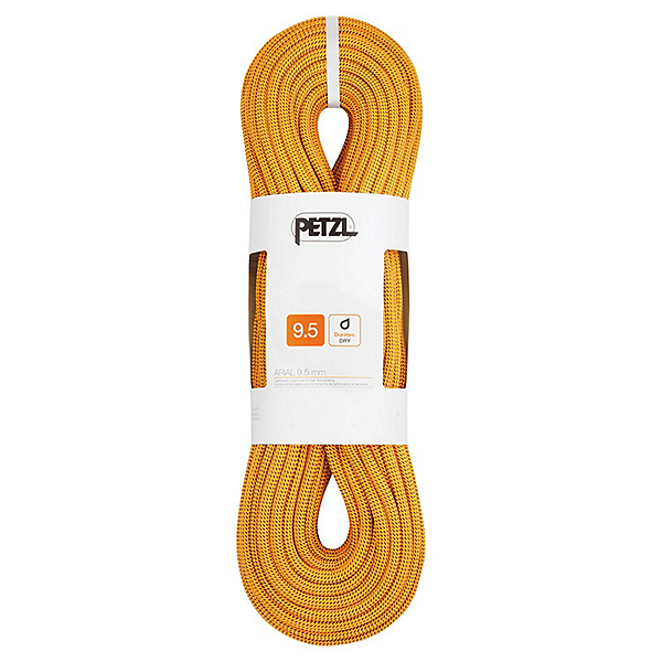 Petzl 9.5 mm Arial Dynamic Rope - Dry - 70M/Gold, Gold, 600