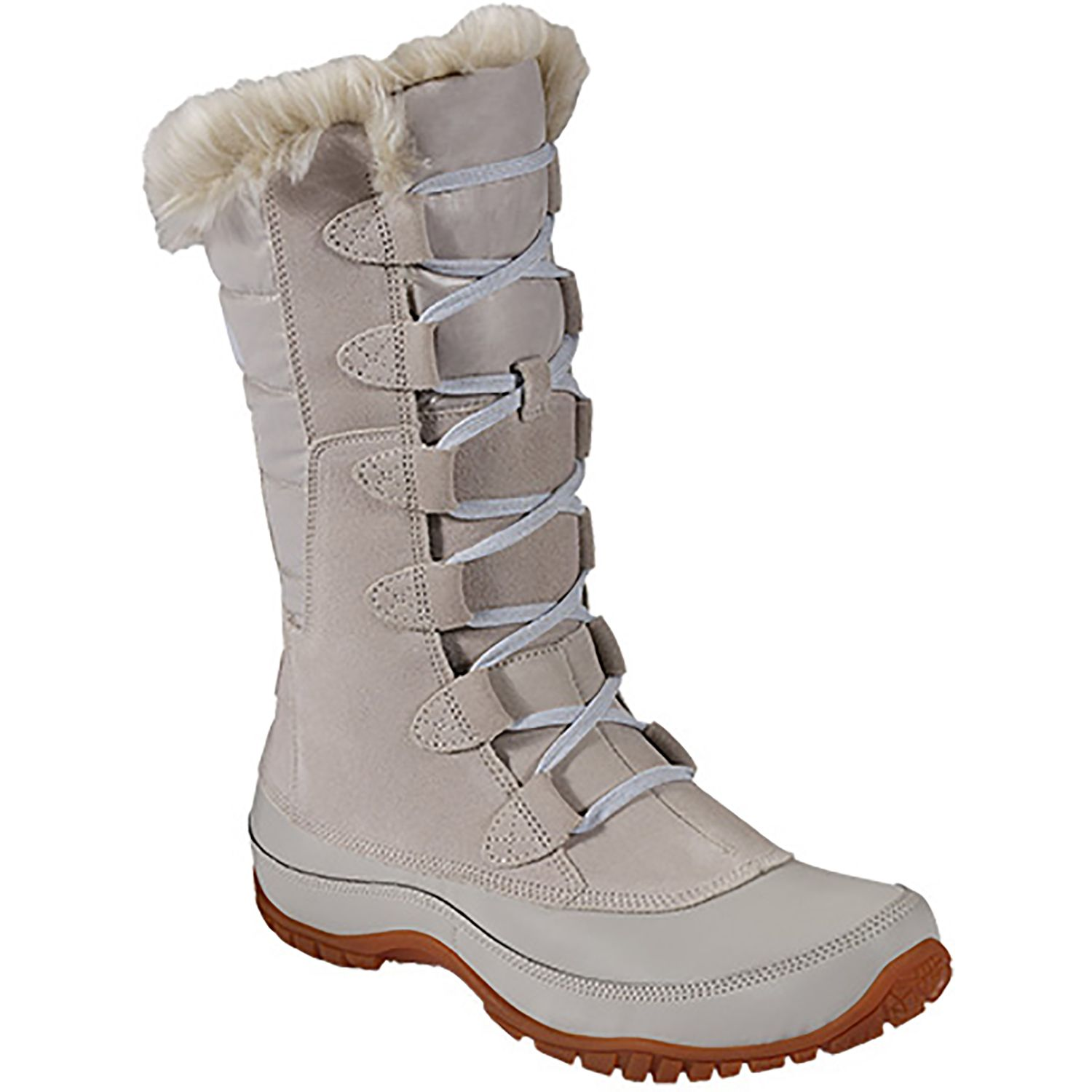 The North Face Nuptse Purna Boots Dove Grey Artic Ice Blue Women s