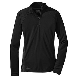 Outdoor Research Essence Long Sleeve Zip Top - Women's, Black-Charcoal, 256
