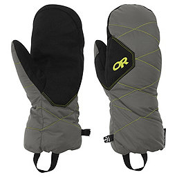 Outdoor Research Phosphor Mitts, Pewter-Lemongrass, 256